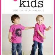 Pink Tees for Girls AND Boys from Quirkie Kids