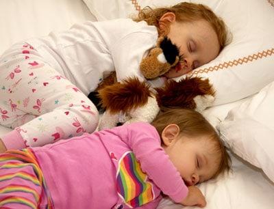 My girls co-sleeping