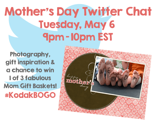 Join #KodakBOGO Mother's Day Twitter Party with Gift Basket Giveaway