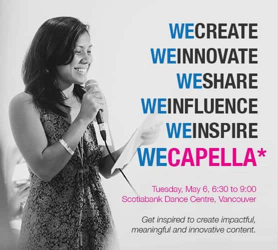 Vancouver Digital Influencers Get Inspired at #WeCapella on May 6