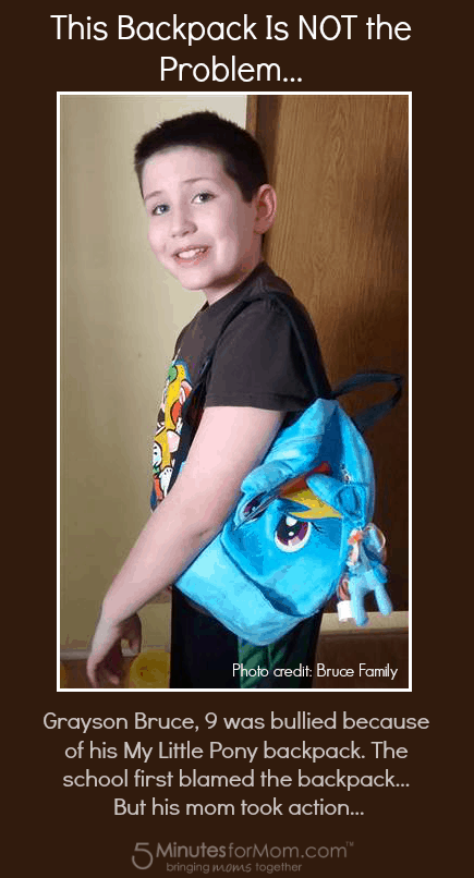Grayson Bruce My Little Pony Backpack