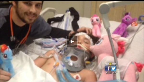 Michael Morones in Hospital