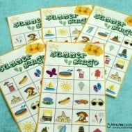 Summer Bingo Game with #Free Printables