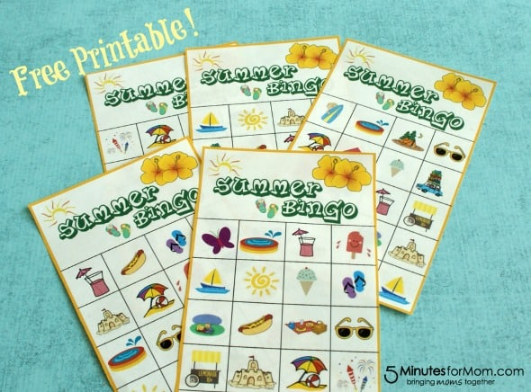 Summer Bingo Game with Free Printable / by 5MinutesForMom #freeprintable #summergame #bingo