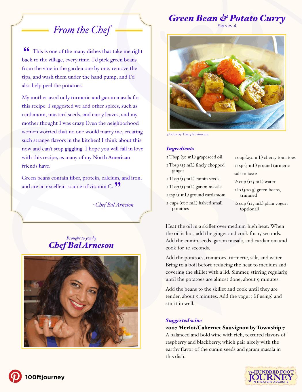Green Bean & Potato Curry