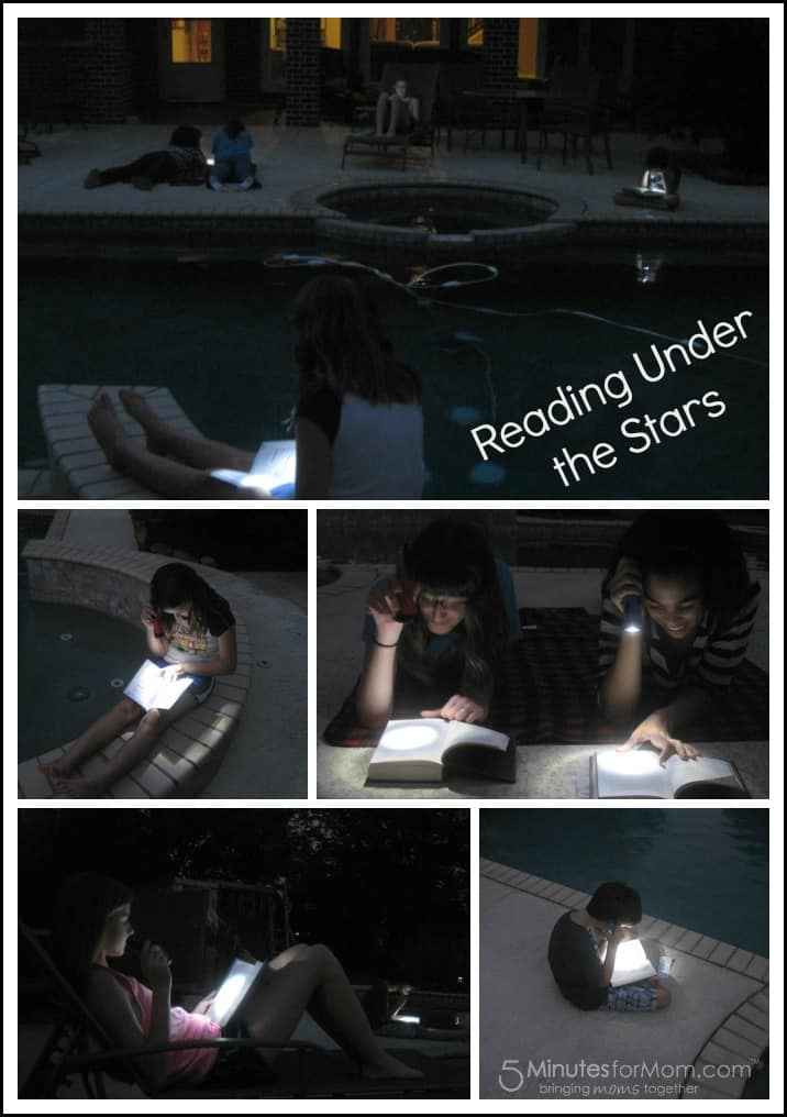 Reading Under the Stars Collage