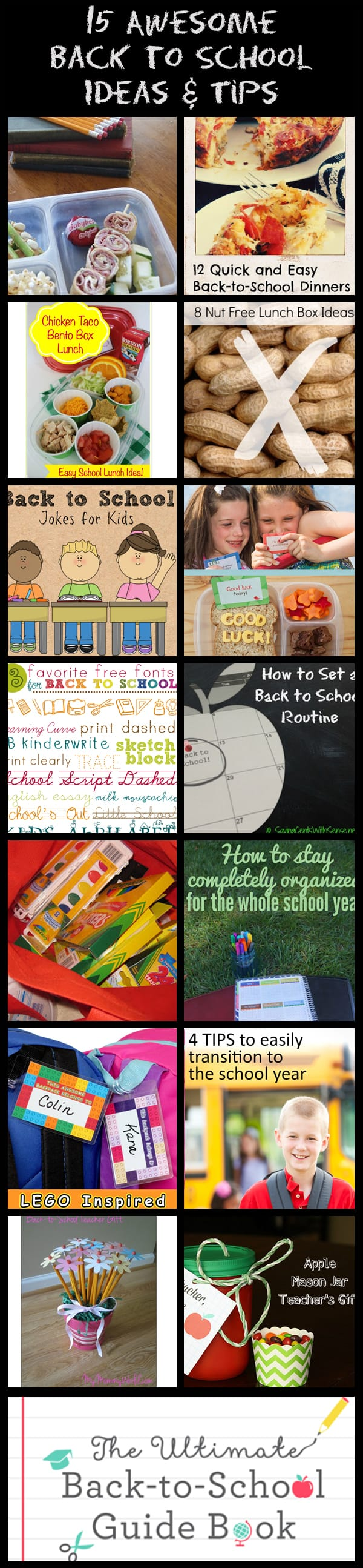 15 Back to School Ideas #RoundUp