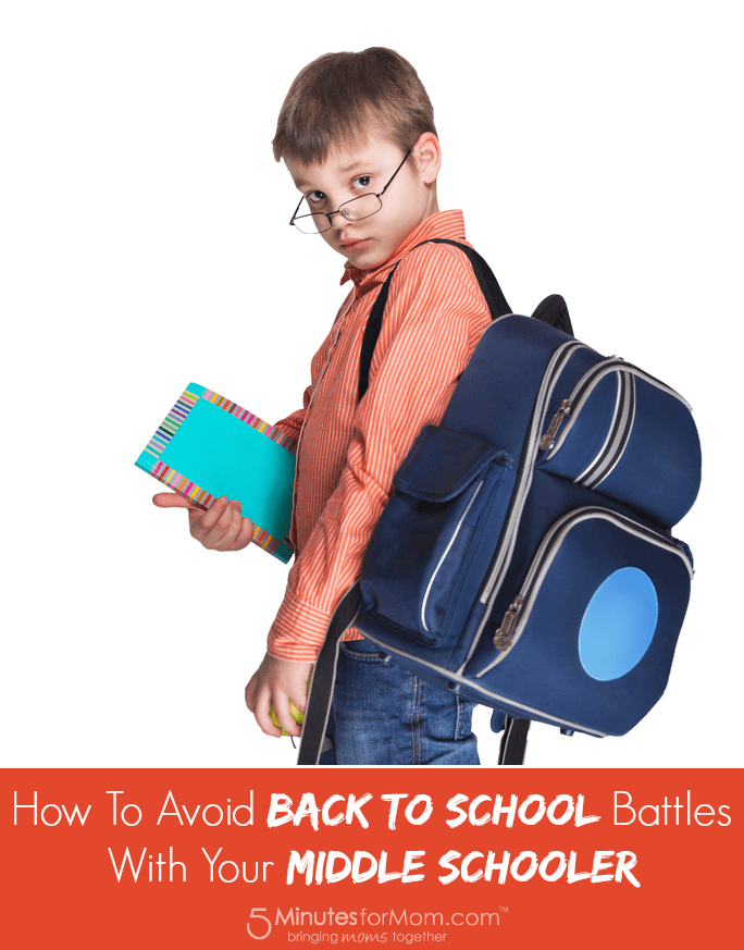Avoid Back to School Battles with your Middle Schooler
