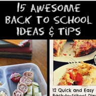15 Awesome Back to School Ideas & Tips! #RoundUp