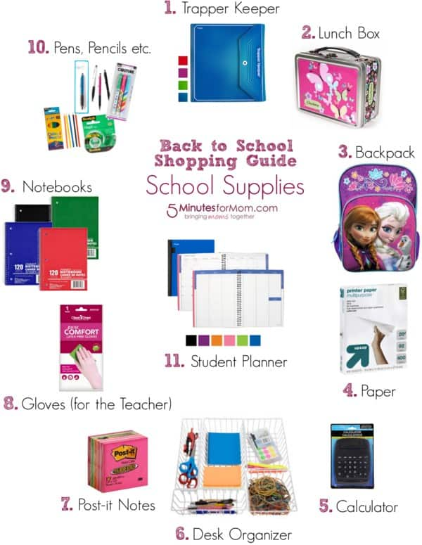 Back To School Shopping Guide Supplies