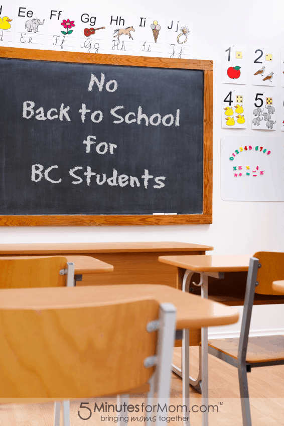 No Back to School for BC Students