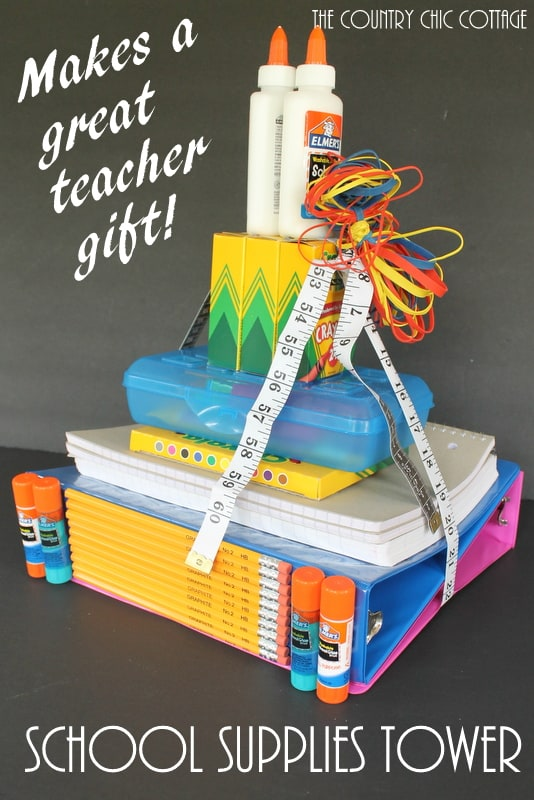 School Supplies Tower - The country chic cottage