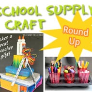 School Supply Crafts Round Up #DIY #Crafts