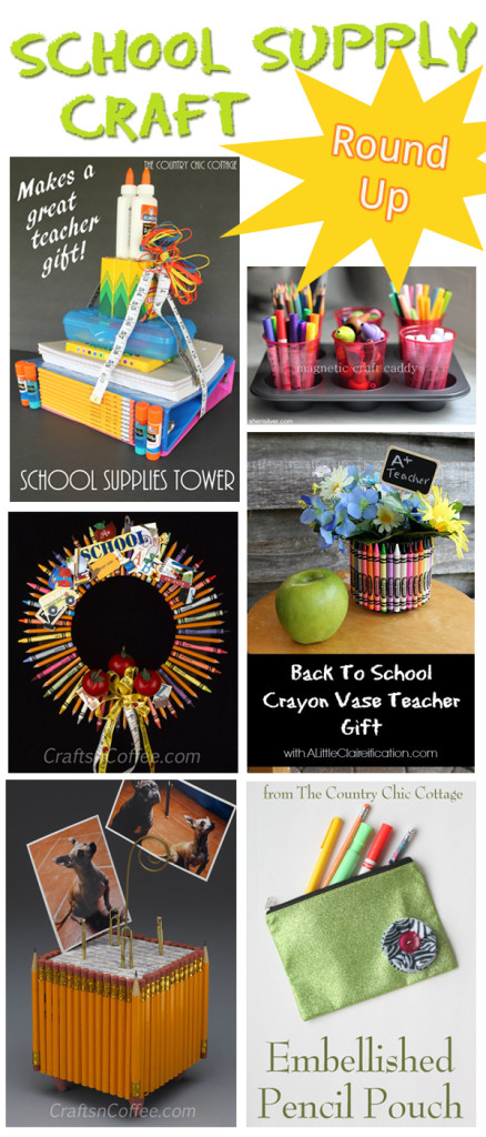 School Supply Craft Round Up