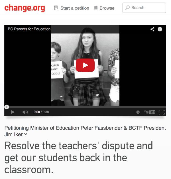 bc teachers strike petition
