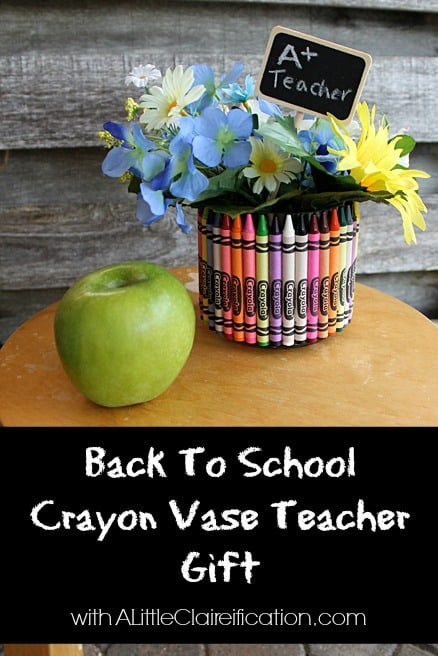 crayon vase - a little claireification