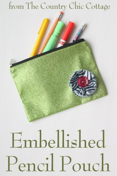 embellished pencil pouch - the country chic cottage