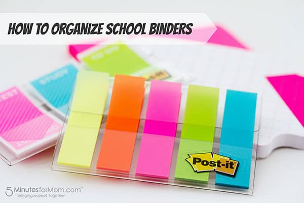 organize school binders