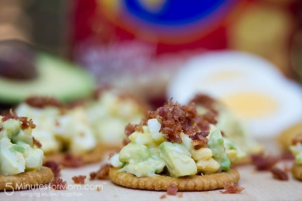 Egg and Avocado Salad with Bacon Crackers