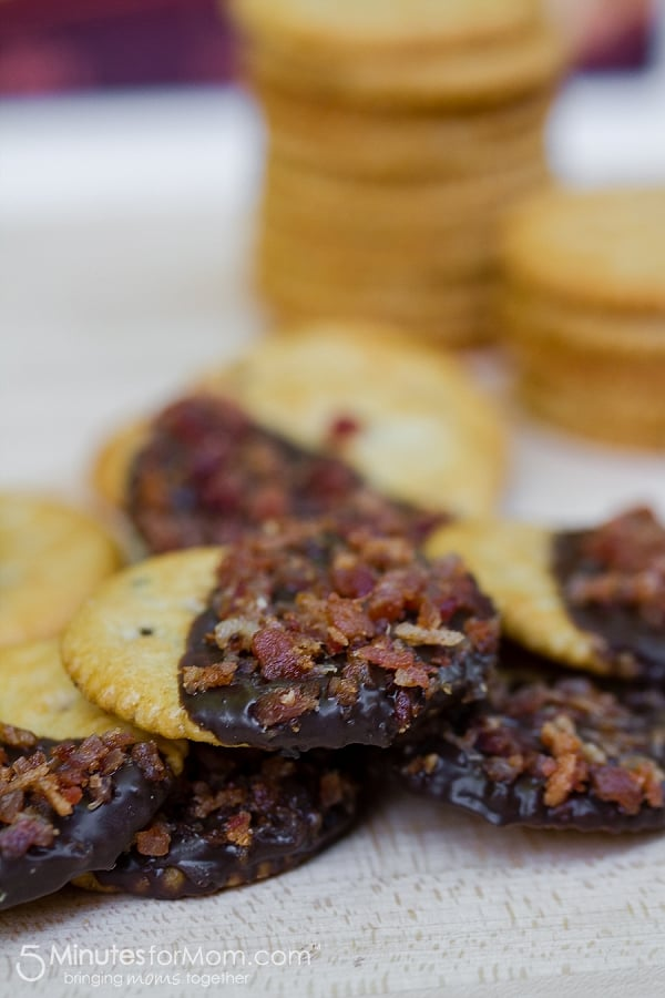 Chocolate Dipped with Bacon Crackers