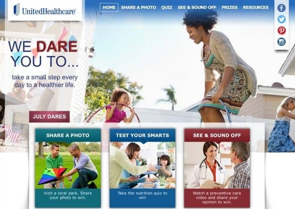 United Health Care Dares You to Share! PLUS A Chance to Win $400 Gift Card!
