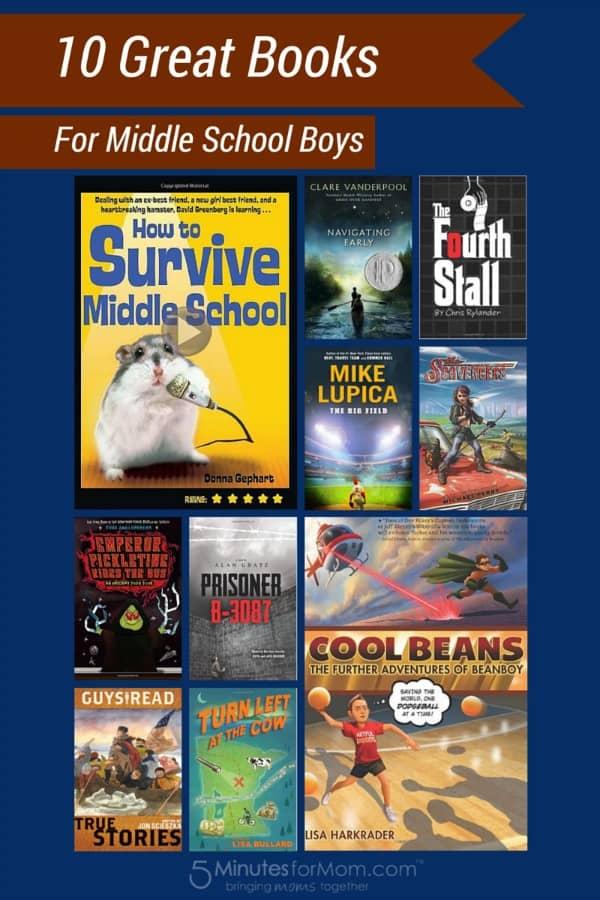 10 Books Middle School Boys