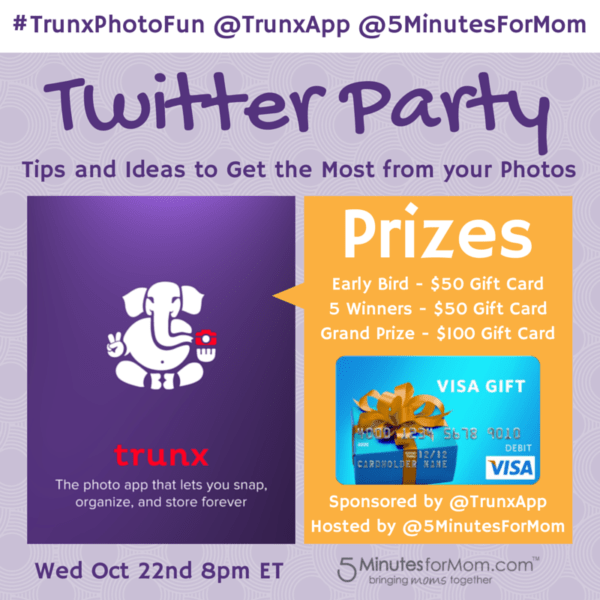 Join #TrunxPhotoFun Twitter Party with @TrunxApp – $400 in Prizes