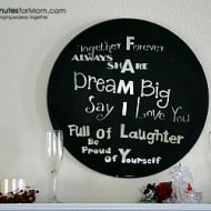 DIY Painted Mirror Quote #Craft
