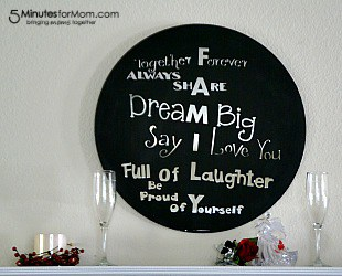 DIY Painted Mirror Quote