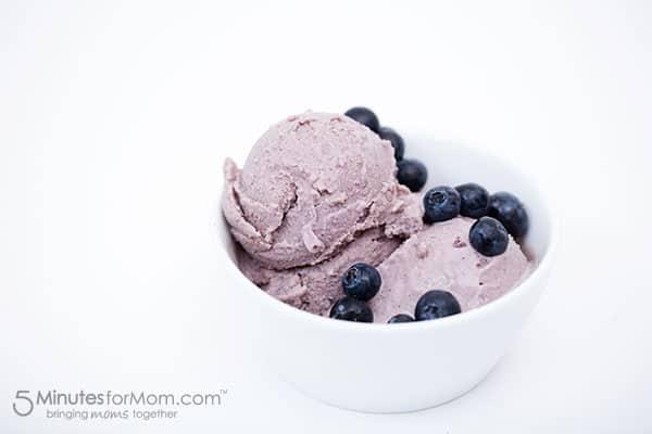 Blueberry and Avocado Frozen Yogurt No Machine
