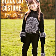 DIY Cat Costume for Girls with Video Tutorial