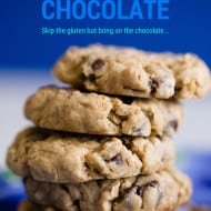 Gluten Free Oatmeal Chocolate Chip Cookies #Recipe