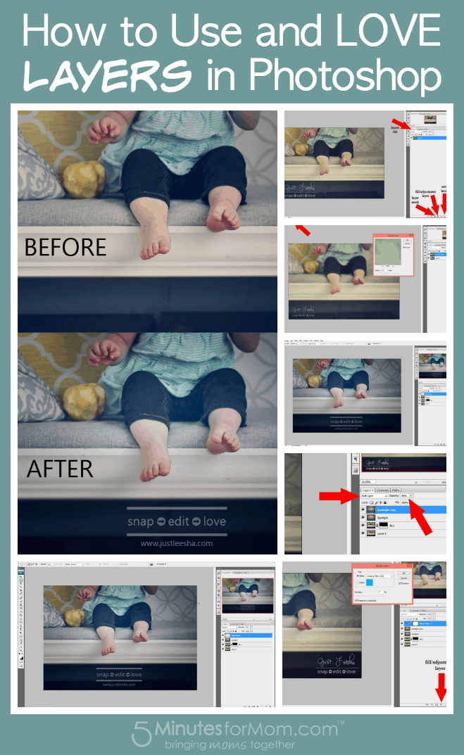 How to Use and Love Layers in Photoshop