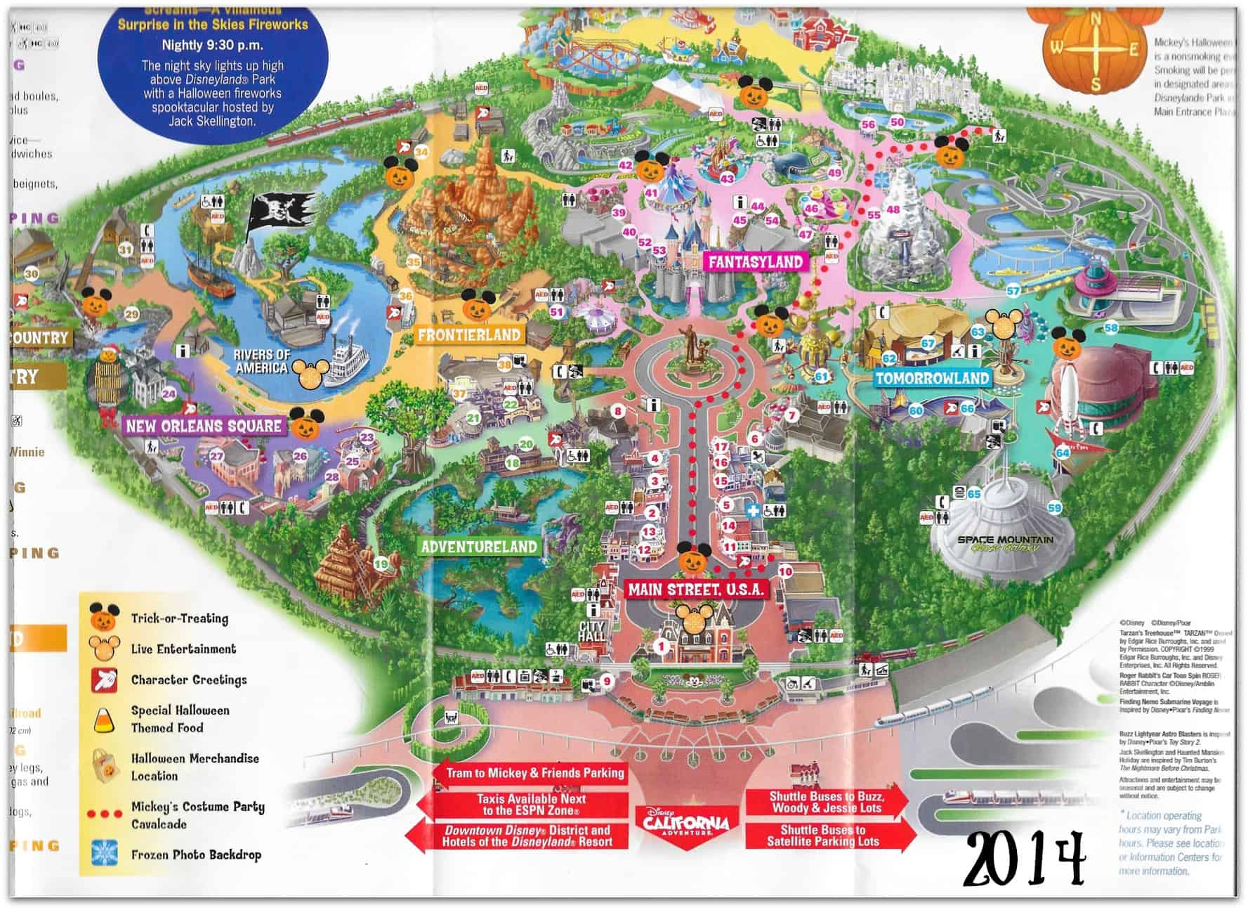 Mickey's Halloween Party Map