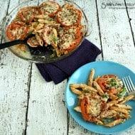 Spinach Tomato Pasta Bake