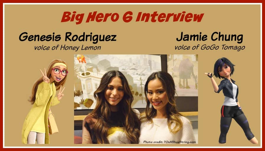 Big Hero 6 Interview - Genesis Rodriguez & Jamie Chung