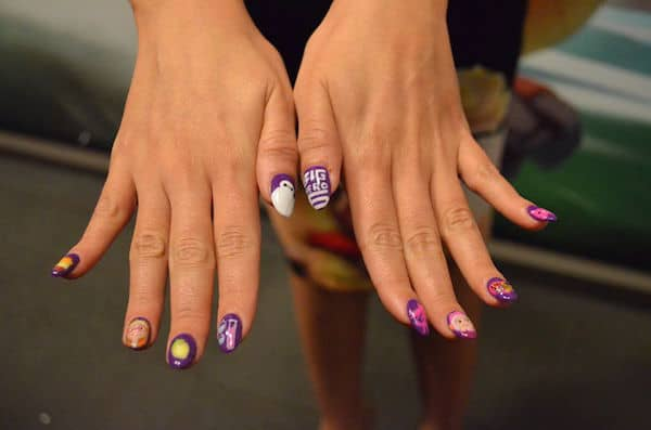 Genesis Rodriguez Nail Art - Big Hero 6