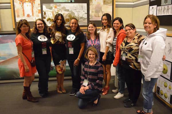 Group Photo with Jamie Chung and Genesis Rodriguez