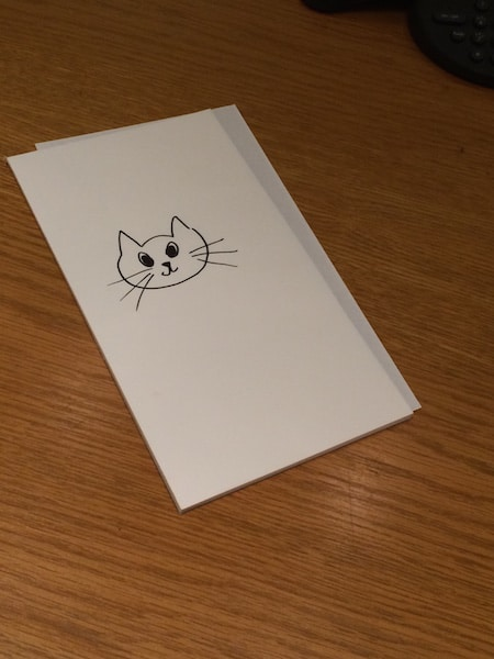 Kitty Cat drawn by Jamie Chung during our interview