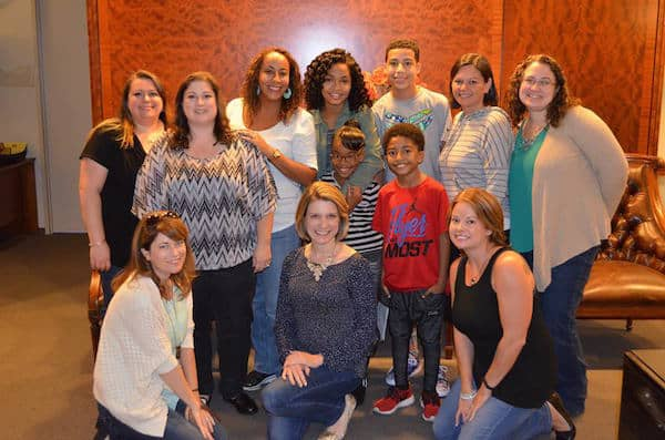 black-ish Kids and Blogger Group Photo