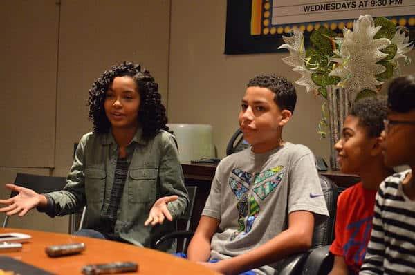 black-ish interview - Yara Shahidi, Marcus Scribner