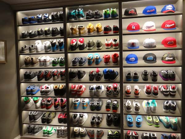 black-ish set tour - Dre's Shoes and Hats
