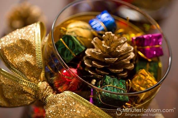 Christmas craft centerpiece