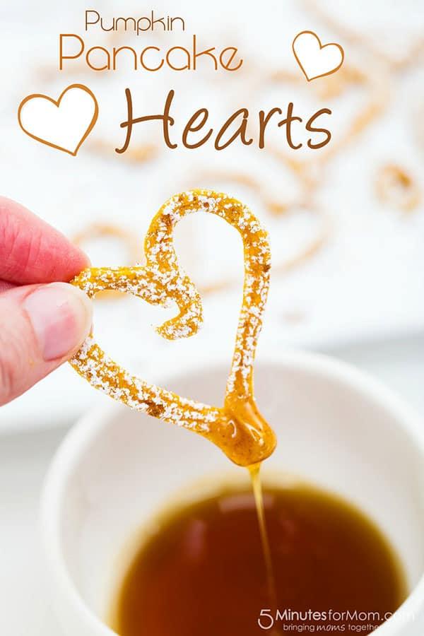 Pumpkin Pancake Hearts