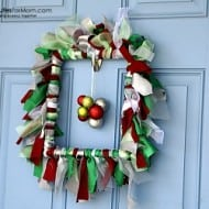 #DIY Holiday Ruffle Wreath