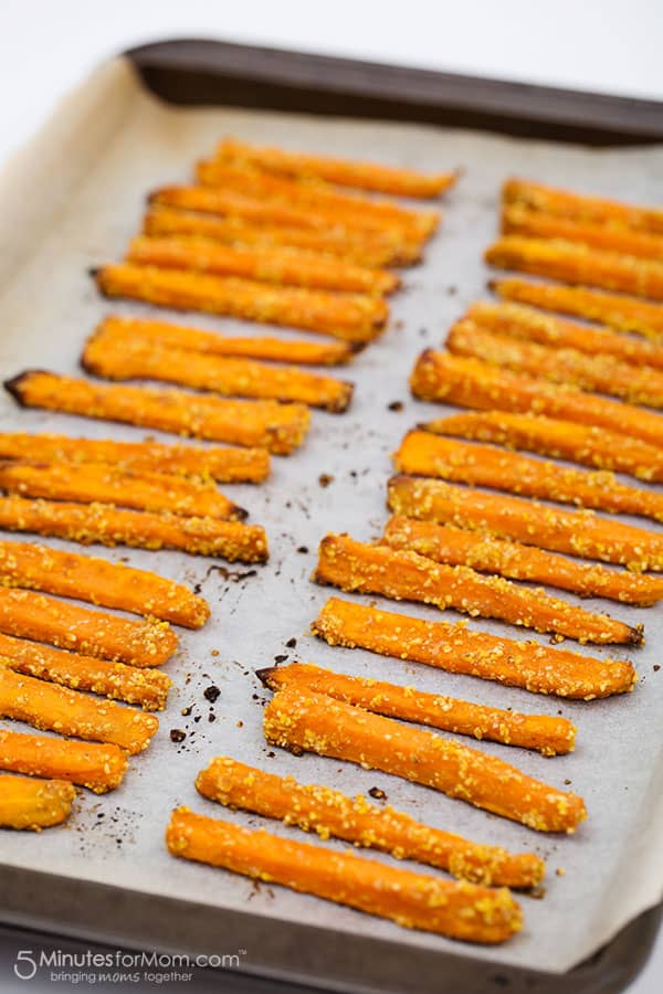 Yam Fries on Parchment