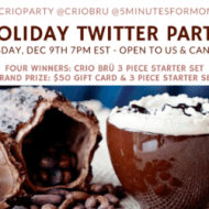 Join #CrioParty Holiday Twitter Party – Open to US and Canada – Dec 9, 7pm ET