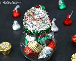 DIY Cupcake Jar Gift Idea for Christmas