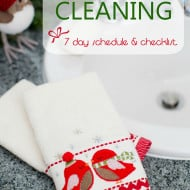 Holiday Cleaning Help – A Printable Schedule and Checklist