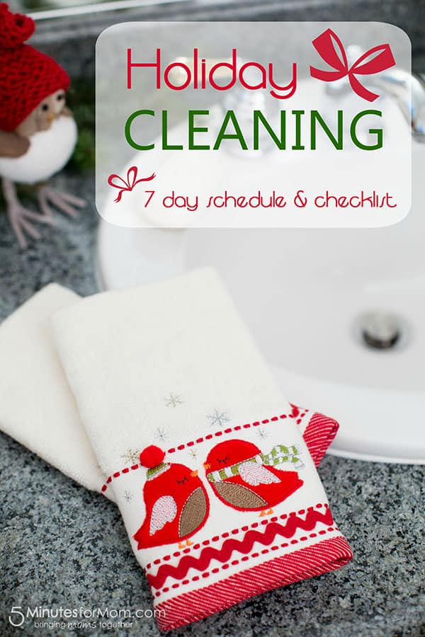 Holiday Cleaning Schedule and Checklist Printable